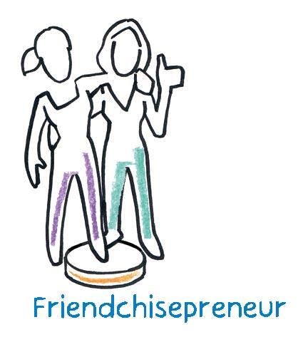 Der Friendchisepreneur such nach einer Mitstreiterin, die mit ihm an einer geteilten Passion, der Lösung eines spannenden Kundenproblems, arbeitet.