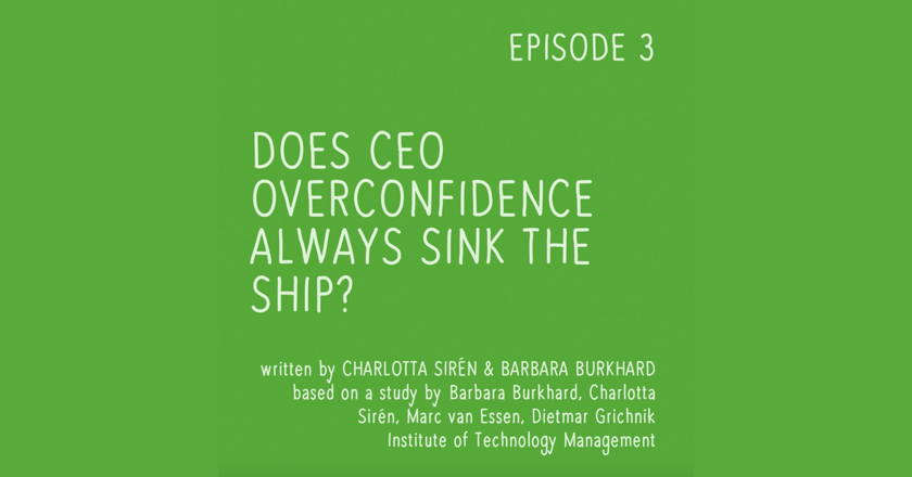 Does CEO overconfidence always sink the ship?