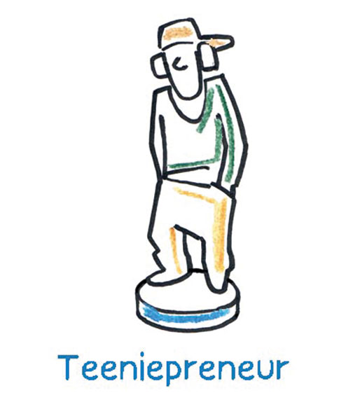 The Teeniepreneur or Studentpreneur experiments playfully with his hobbies in his youth, be it as a drummer in the school band or as a charitable environmental activist in the specially founded student group for aid deliveries to crisis areas.