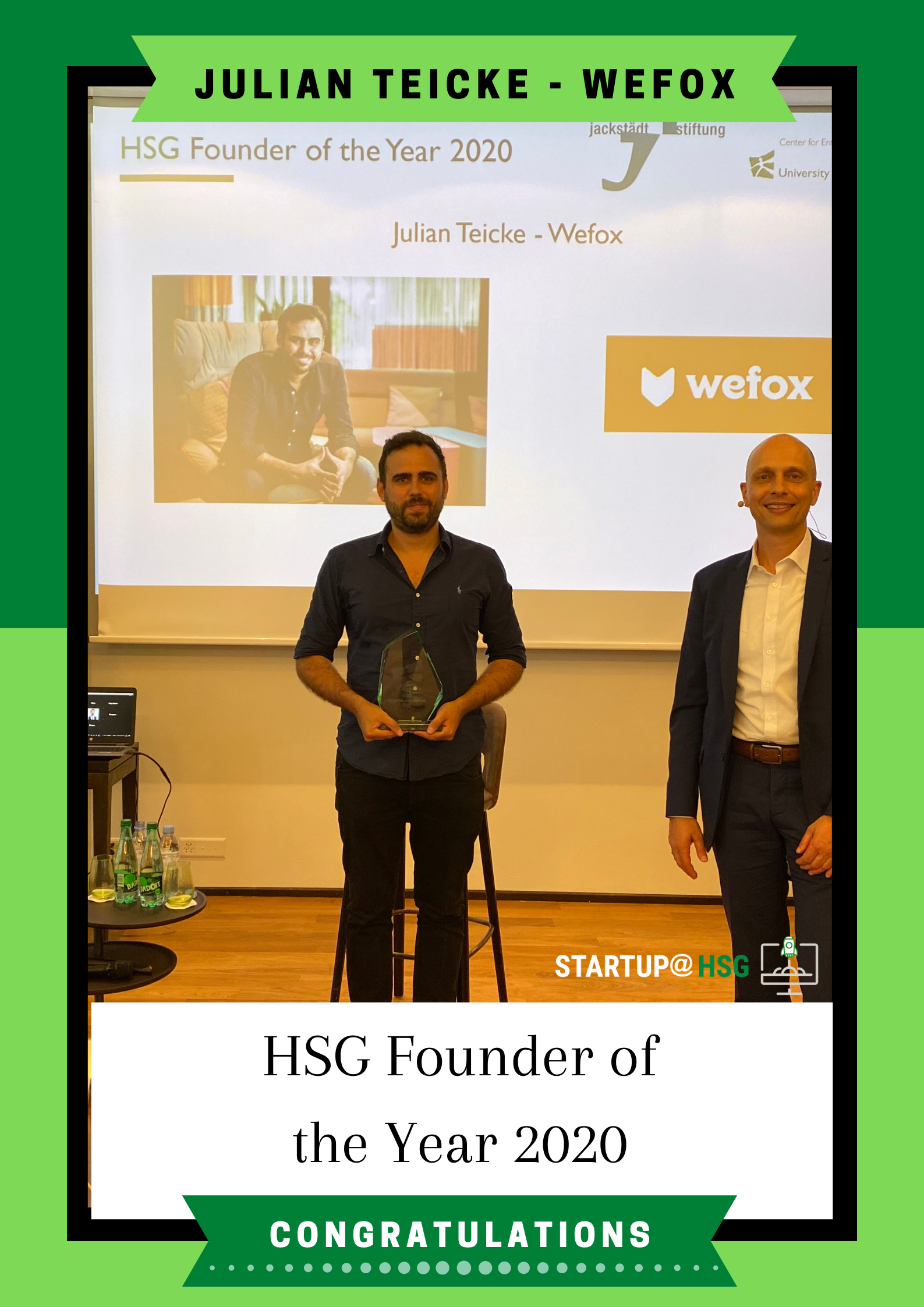 HSG Founder of the Year 2020 – Julian Teicke, Founder of Wefox
